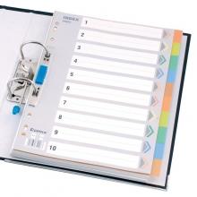 齐心IX902十色索引纸A4 11孔PP十页分页纸 分类纸索引更轻松