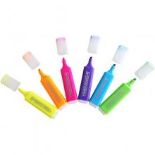 齐心HP908持久醒目斜头荧光笔韩版彩色涂鸦笔6色可选
