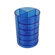 齐心B2101多功能时尚塑料四格分类组合笔筒