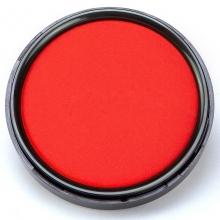 齐心B3746秒干印台小号红色印泥 圆形70mm