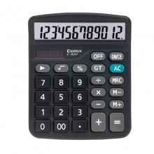齐心计算器837大屏幕太阳能双电源计算机办公学生财务会计专用
