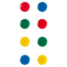 齐心B2382彩色强力白板磁扣20mm 8个/卡