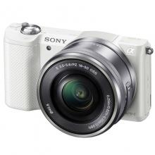 索尼(SONY) ILCE-5000L 微单相机 白色(16-50mm镜头 a5000/α5000)