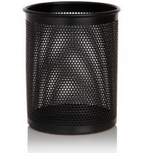 得力909正品 圆形网状笔筒办公用品创意时尚金属笔座