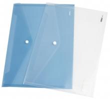 得力5505塑料按扣透明档案袋A4 10个/包