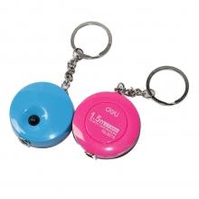 得力(deli) 8214  带钥匙扣1.5迷你米皮卷尺