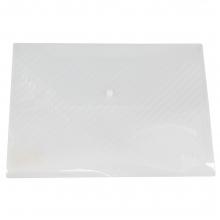 得力5501正品 A4按扣透明资料文件袋 10个/包