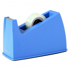 得力810胶带切割器胶带座(适用小于18mm胶带)蓝色/灰色办公专用
