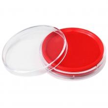 得力(deli)9863正品 快干红色圆形印台财务专用办公文化用品