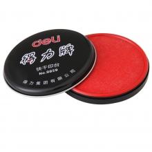 得力(deli)9859正品快干防水防晒 红色印台直径85mm