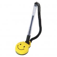得力6793台笔 微笑图案0.5mm固定式水笔写字笔通用芯
