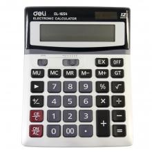 得力1654 财务专用太阳能大按键计算器双电池