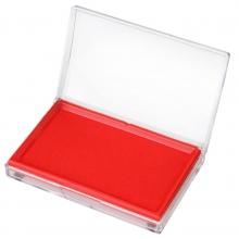 得力9864正品 大号方形印台 印泥红内径12.8*0.8cm