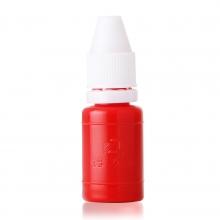 得力9873正品 原子印油 办公财务用品10ml红蓝两色