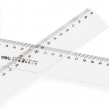 得力6240塑料透明直尺 40厘米