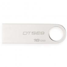 金士顿(Kingston)读速100MB/s DT SE9G2 16GB USB3.0 金属U盘 银色亮薄