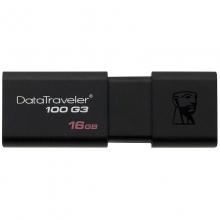 金士顿(Kingston)DT 100G3 16GB USB3.0 U盘 黑色