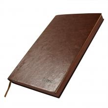 博文551 A5 高档皮面 商务精装笔记本 150张 205*143mm单本  咖啡色