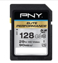 必恩威 PNY SDXC 128G 600X UHS-1 CLASS10 极速存储卡读取90MB S 专业摄影机 单反相机用闪存卡