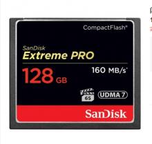闪迪 SANDISK 128GB 1067X 至尊超极速CF存储卡 读速160MB S