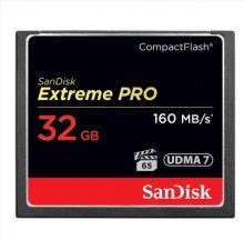闪迪 SANDISK 32GB 1067X 至尊超极速CF存储卡 读速160MB S