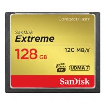 闪迪 SANDISK 128GB 800X 至尊极速CF存储卡 读速120MB S