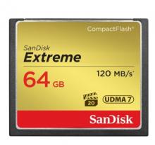 闪迪 SANDISK 64GB 800X 至尊极速CF存储卡 读速120MB S
