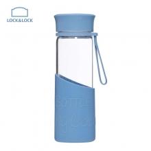 乐扣乐扣(lock&lock)硅胶杯套耐热玻璃水杯LLG673