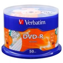 威宝 DVD +/-R 空白刻录光盘16速50片装4.7G