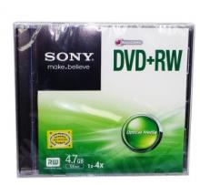 索尼(SONY)DVD+RW 4速 4.7G 可重复擦写 刻录盘 空白光盘 单片厚盒装
