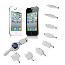 八合一USB转接头手机数码相机MP3GPS充电线 万用充电接头