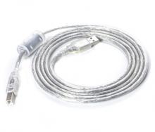 USB2.0方口打印机数据线/连接线  透明1.8米