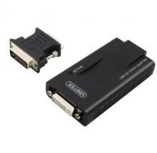 优越者(UNITEK) Y-3801 USB3.0转DVI/VGA外置显卡 DVI/VGA分屏器