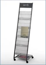 应豪TZ-2011 移动杂志架+报刊架+展示架+书报架+资料架 带广告牌