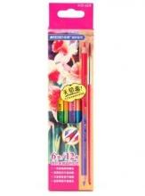 马可(Marco)4121-6CB 双头12色水溶性彩色铅笔/填色笔 6支纸盒装