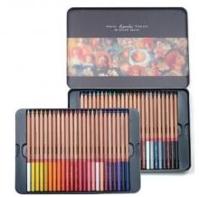 马可(Marco)3100-48TN 雷诺阿系列 48色彩色铅笔/填色笔 铁盒装