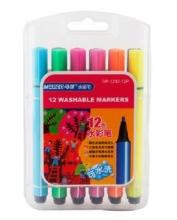 马可水彩笔1232 儿童画画粗三角杆 无毒可水洗水彩笔 12色/24色