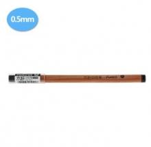 马可MARCO 个性中性笔 0.5mm木杆子弹头中性笔黑色芯
