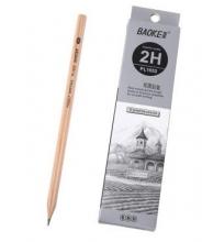 宝克(BAOKE)PL1652 办公绘图铅笔 绘画素描铅笔 多灰度 2H 12支