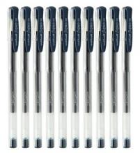 三菱(Uni) UM-100 经济实用型中性笔 (0.5mm) (10支装)黑色/红色/蓝色