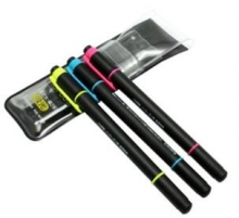 三菱 uni 双头荧光笔 PUS-101T 细0.6mm 粗4.0mm
