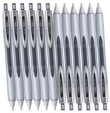 三菱(UNI)UBN-178 按制原子笔0.8mm12支黑色/红色/蓝色