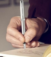 派克(PARKER) 08款卓尔 不锈钢白夹钢笔/墨水笔