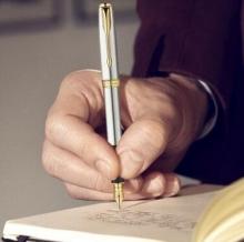 派克(PARKER)08款卓尔不锈钢金夹钢笔/墨水笔