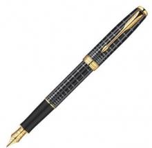 派克(PARKER) 08款卓尔 纯黑丽雅格子纹金夹钢笔/墨水笔