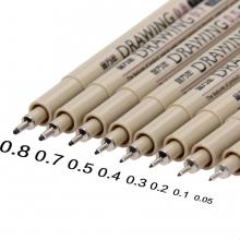 金万年针管设计工笔绘画工具美术描边漫画动漫勾线笔8支套装