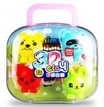 得力(deli)7046 梦幻王国3D彩泥/橡皮泥套装(小动物世界) 包装颜色随机