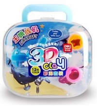 得力(deli)7048 空中竞技3D彩泥/橡皮泥套装 包装颜色随机