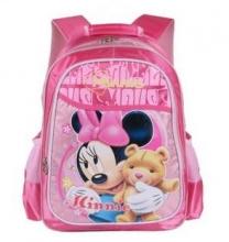 Disney 迪士尼米奇可爱超轻减负护脊双肩背包M606056粉红色