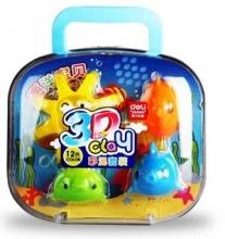 得力(deli)7049 深海遨游3D彩泥/橡皮泥套装(海洋宝贝) 包装颜色随机